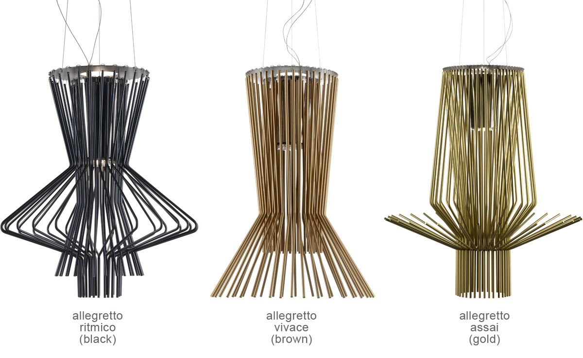 Allegretto suspension lamps for Suspension 4 lampes