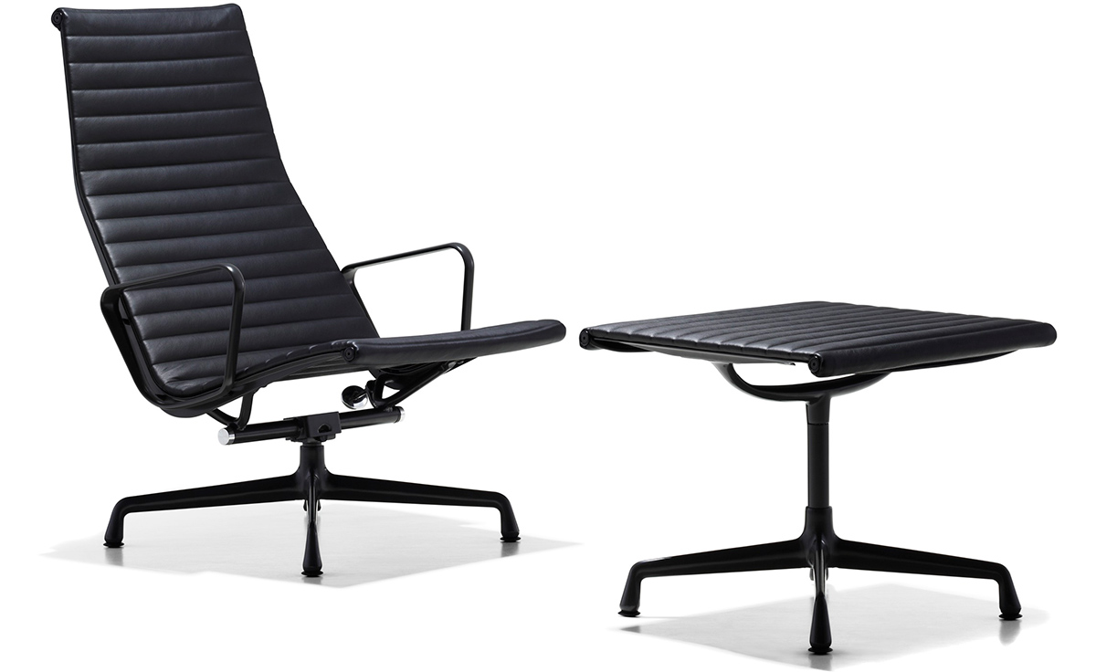 Eames Aluminum Group Lounge Chair & Ottoman hivemodern