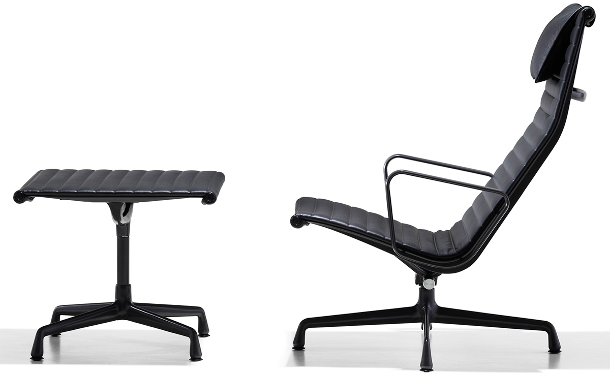 eames aluminum group lounge chair ottoman. Black Bedroom Furniture Sets. Home Design Ideas