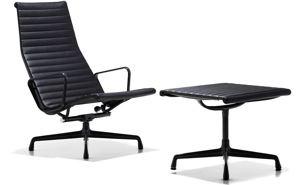 eames aluminum group ottoman. Black Bedroom Furniture Sets. Home Design Ideas