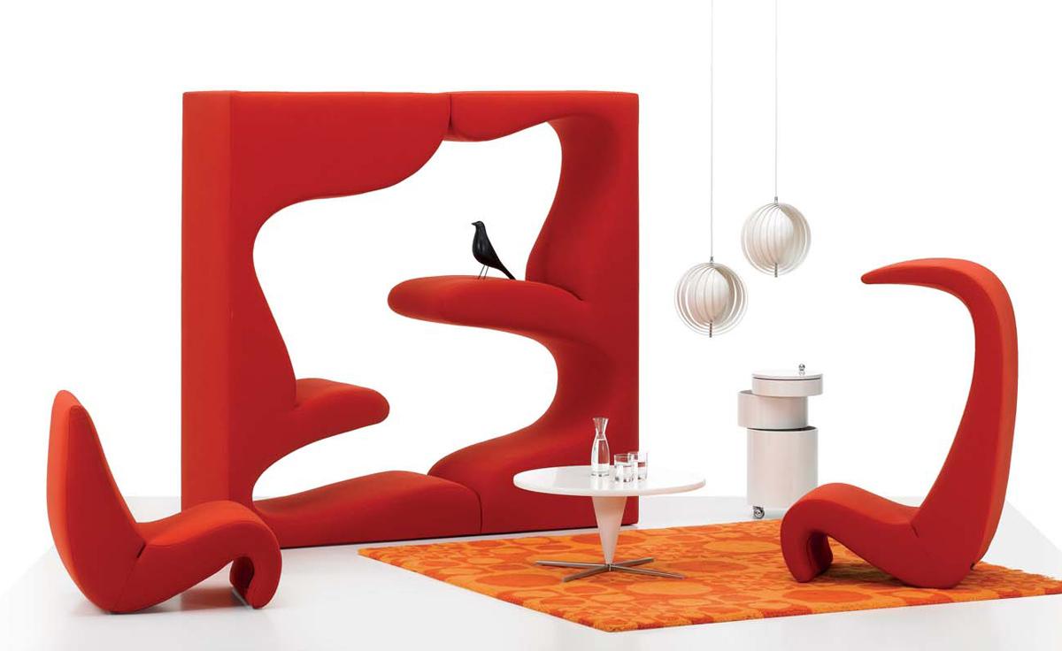 panton amoebe highback chair. Black Bedroom Furniture Sets. Home Design Ideas
