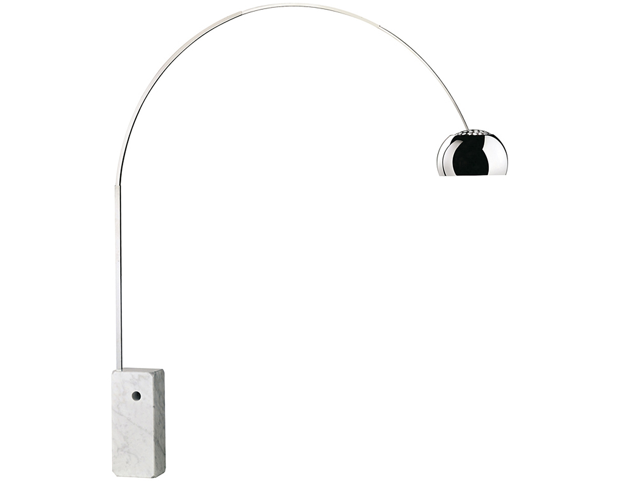 Flos arco floor lamp hivemodern flos arco floor lamp mozeypictures Choice Image