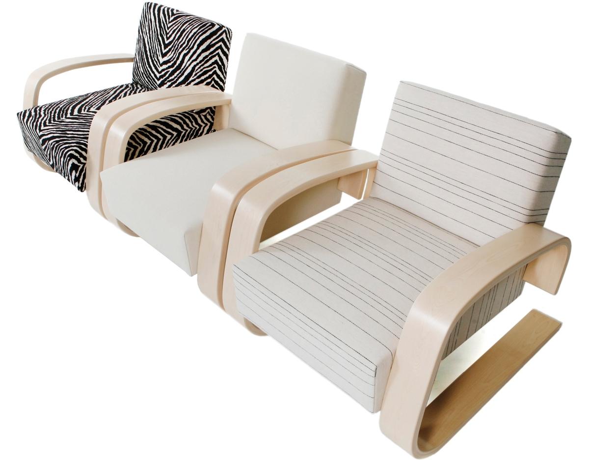Alvar Aalto Armchair 400 Tank Chair - hivemodern.com