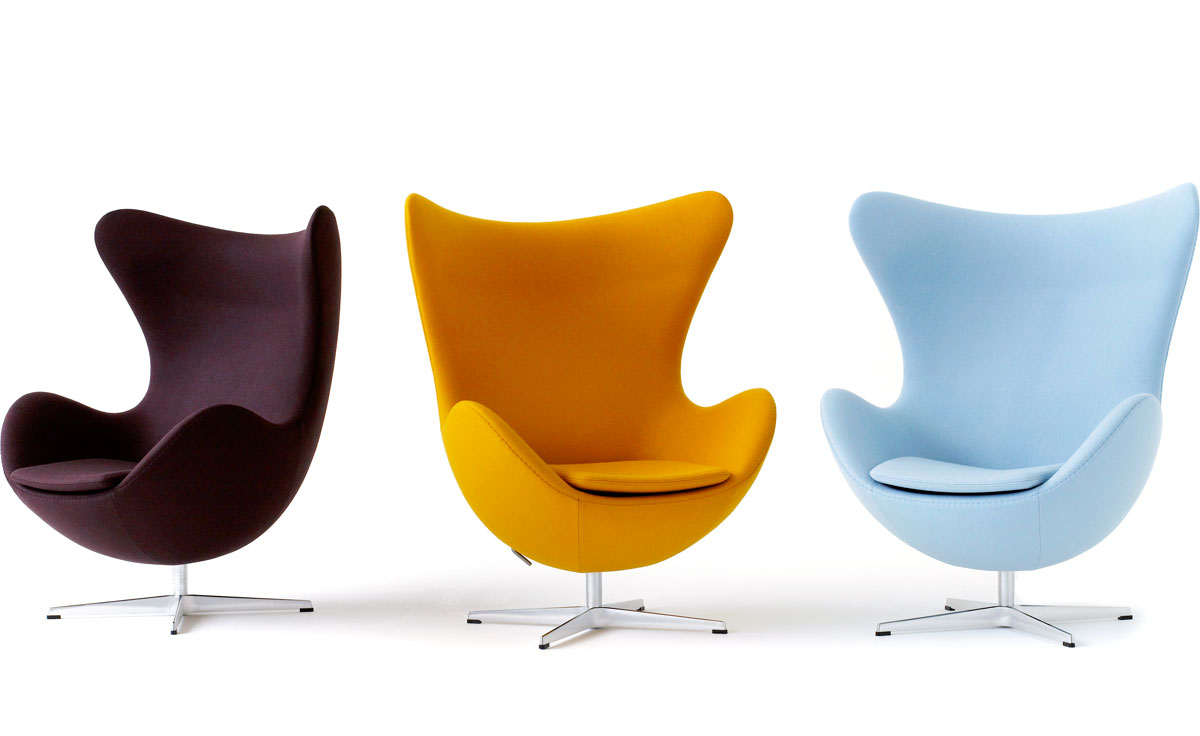 Arne jacobsen egg chair - Fauteuil design colore ...