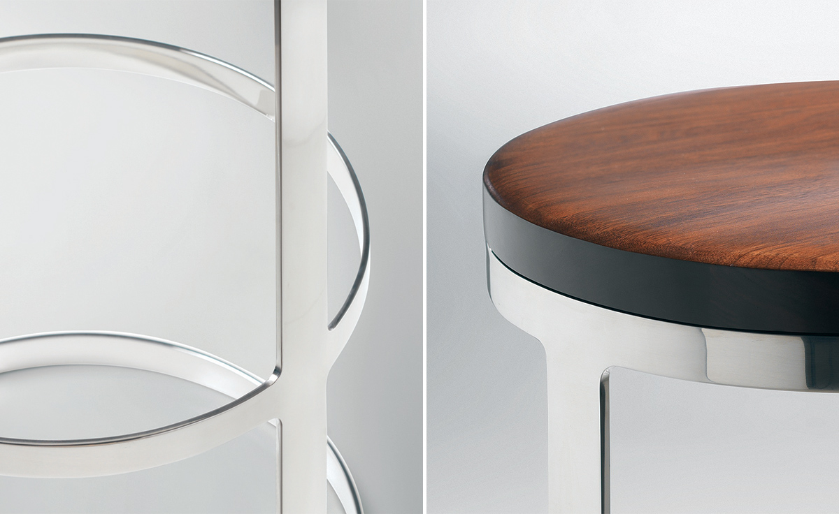 Aro Stool With Wood Seat Hivemodern Com