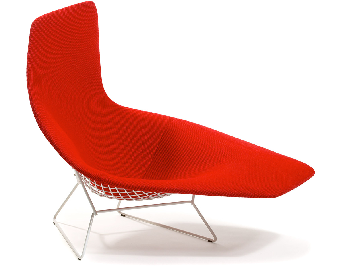 Asymmetric chaise with full cover for Chaise bertoia knoll prix