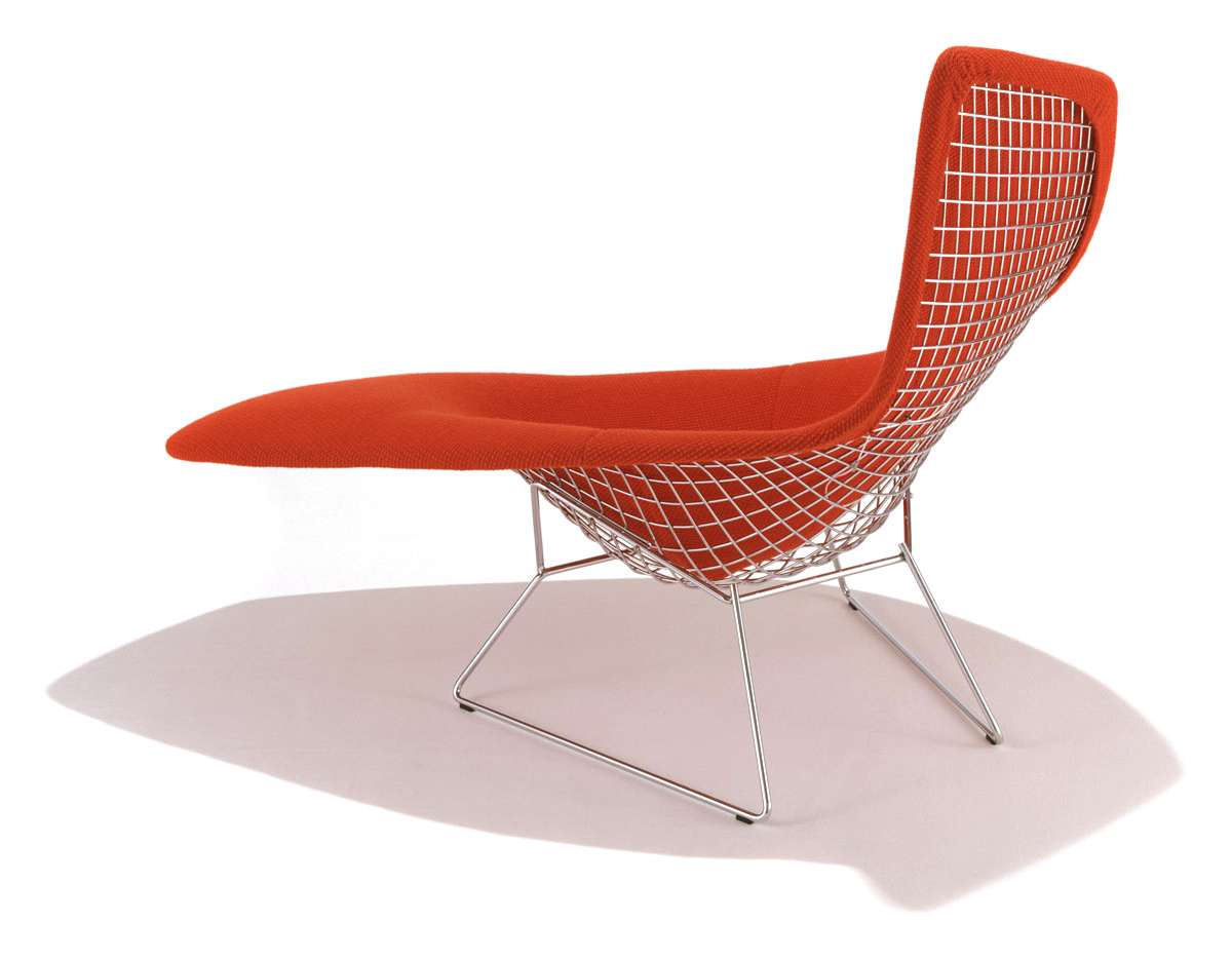 Asymmetric chaise with full cover for Bertoia asymmetric chaise