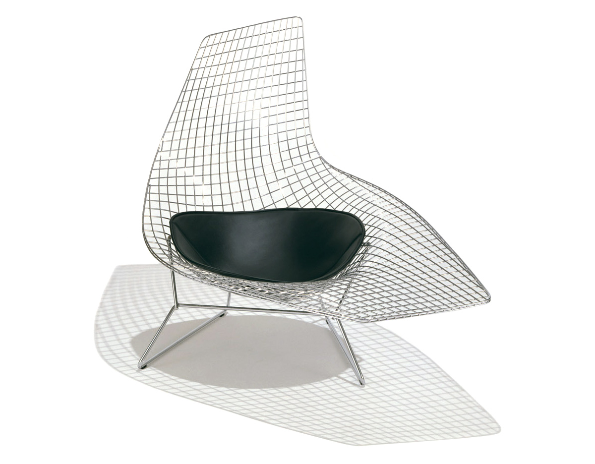 Asymmetric chaise lounge with seat cushion - Chaise bertoia knoll ...