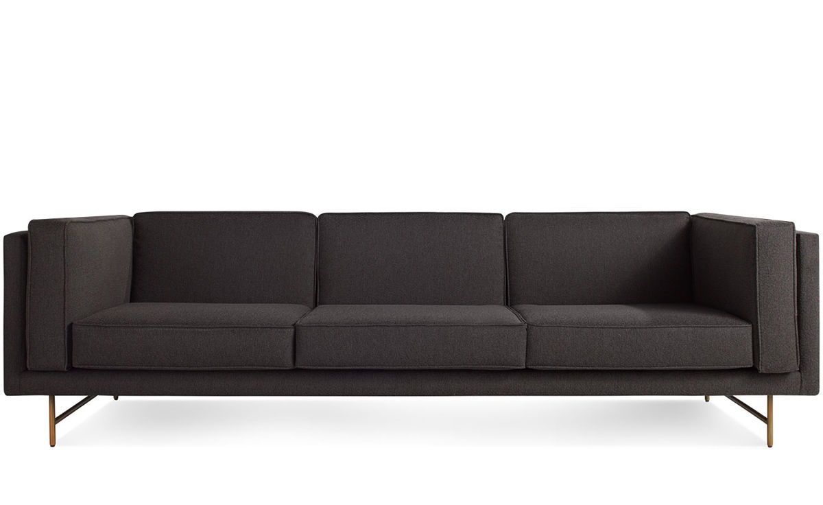 96 sofa the calypso sofa puts focus on grey with a solid for Sofa 84 inch