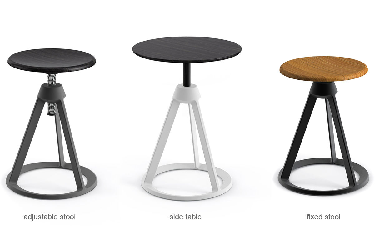 Barber Amp Osgerby Piton Adjustable Stool Hivemodern Com