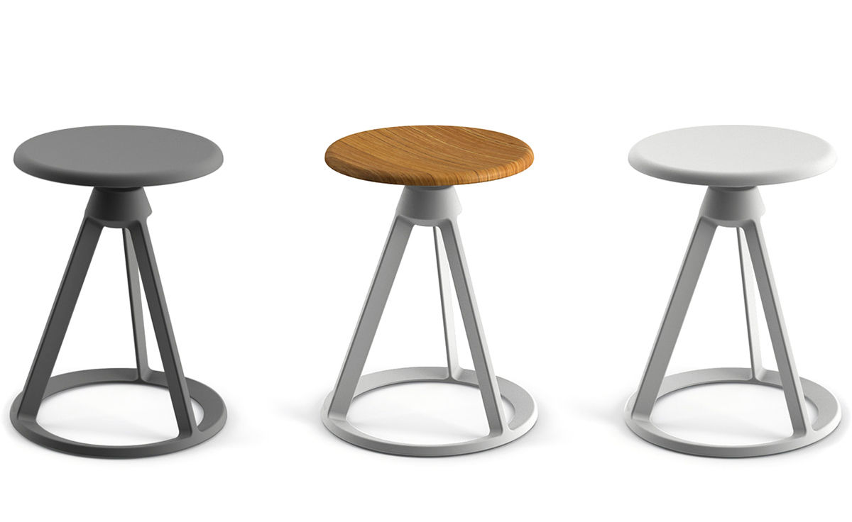 Barber Amp Osgerby Piton Fixed Height Stool Hivemodern Com