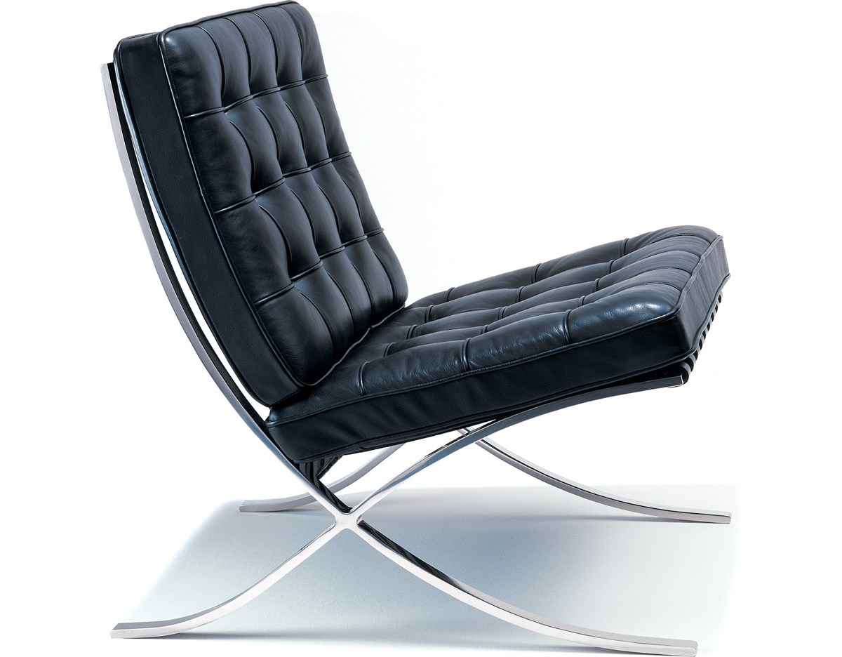 Launge Chair barcelona chair chrome plated - hivemodern