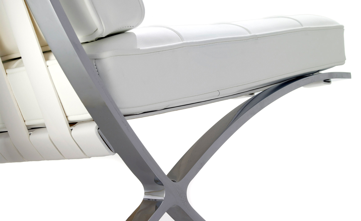 barcelona chair chrome plated. Black Bedroom Furniture Sets. Home Design Ideas