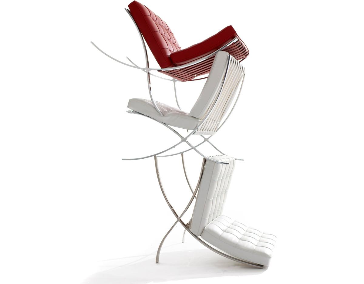 Van Der Rohe Barcelona Chair barcelona chair chrome plated - hivemodern