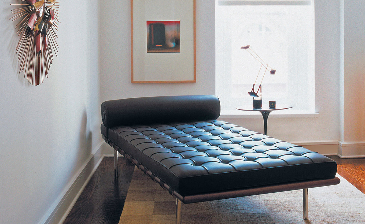 Barcelona Couch With Black Straps Hivemodern Com