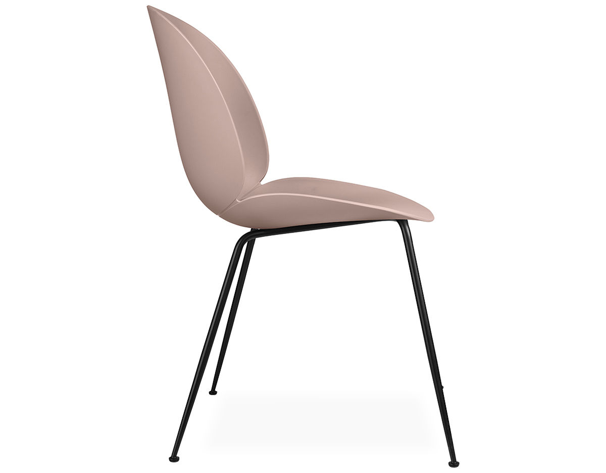 Beetle Dining Chair With Conic Base - hivemodern.com