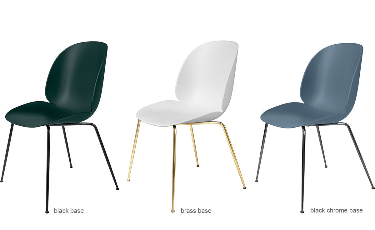 Beetle Dining Chair With Conic Base Hivemodern Com