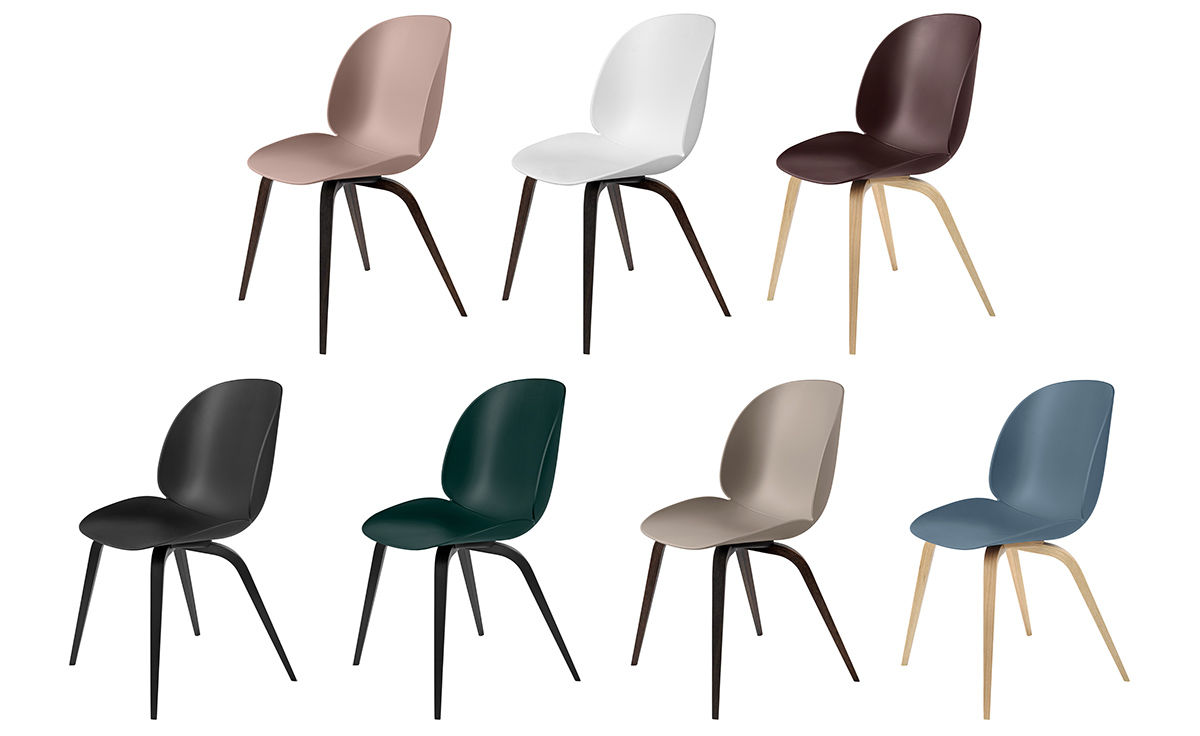 Beetle Dining Chair With Wood Base Hivemodern Com