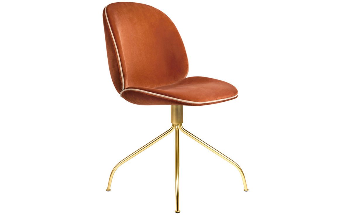 Beetle Upholstered Dining Chair With Swivel Base