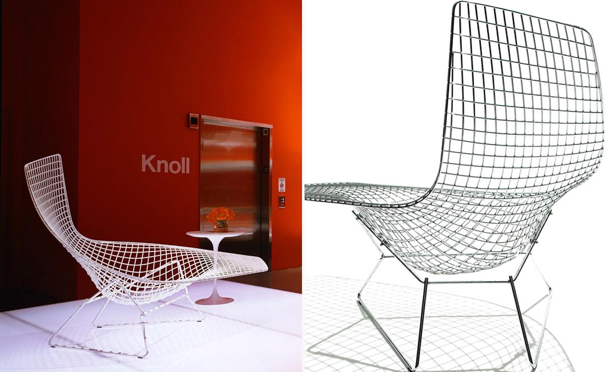 Bertoia asymmetric chaise lounge - Chaise bertoia occasion ...