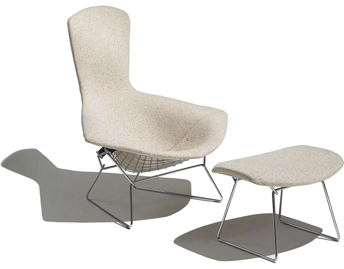 Bertoia Bird Chair & Ottoman hivemodern