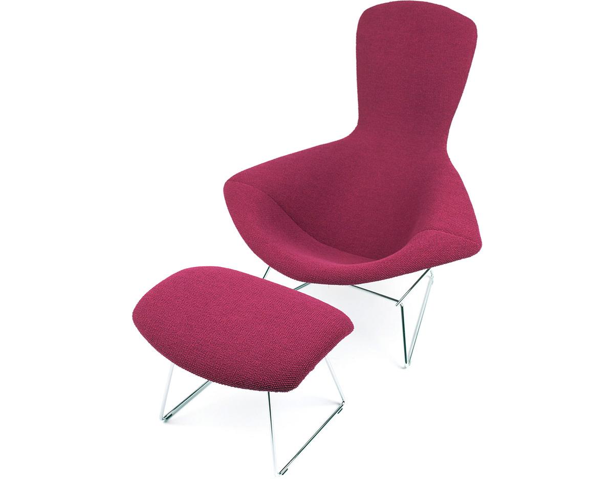 bertoia bird chair ottoman