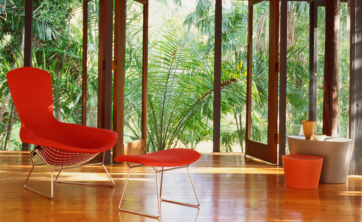 Bertoia Bird Chair U0026 Ottoman