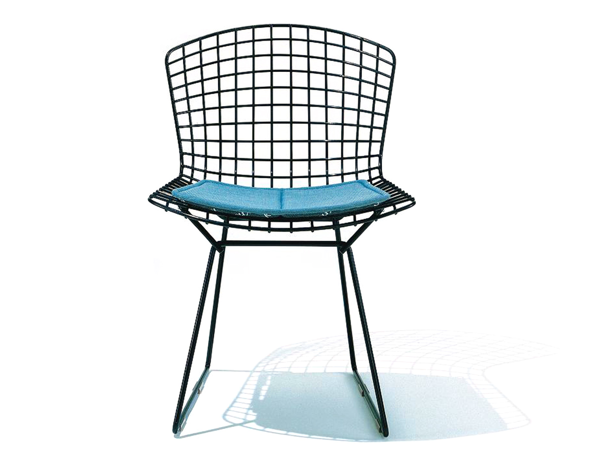 Bertoia Wire Chair bertoia side chair with seat cushion - hivemodern