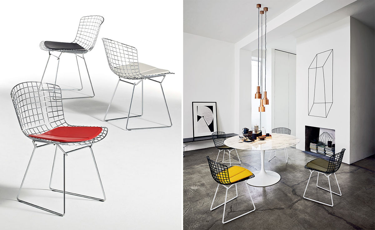 Bertoia chair dining room - Overview