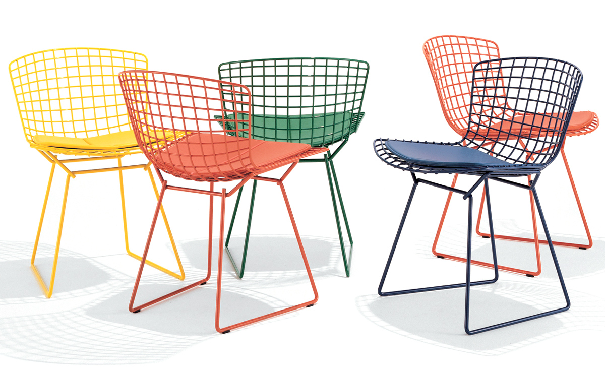 Bertoia side chair with seat cushion for Chair chair chair