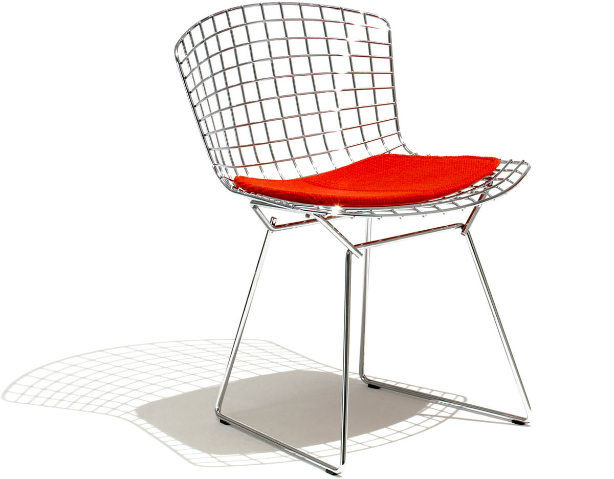 Bertoia side chair with seat cushion for Furniture chairs