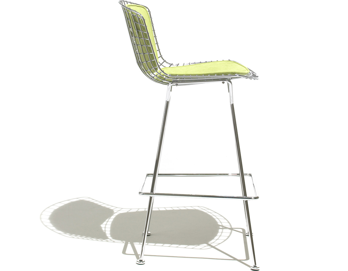 Bertoia Stool With Back Pad Amp Seat Cushion Hivemodern Com