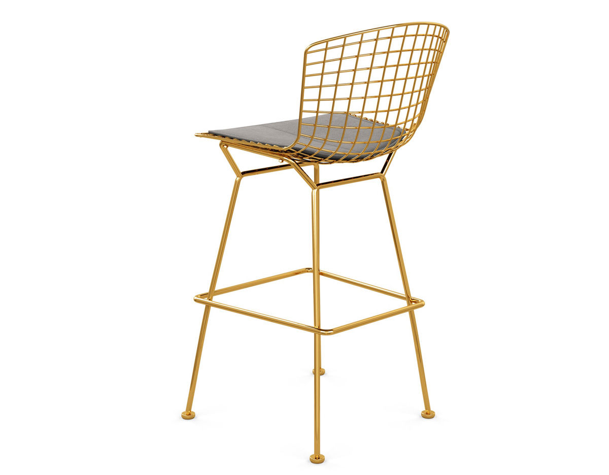 Picture of: Bertoia Stool With Seat Cushion Hivemodern Com
