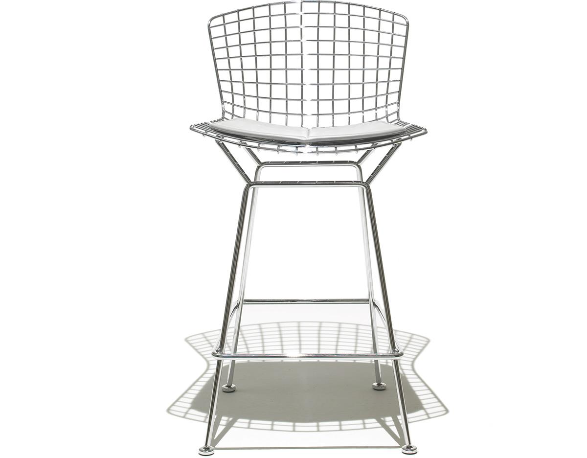 Bertoia Stool With Seat Cushion Hivemodern Com