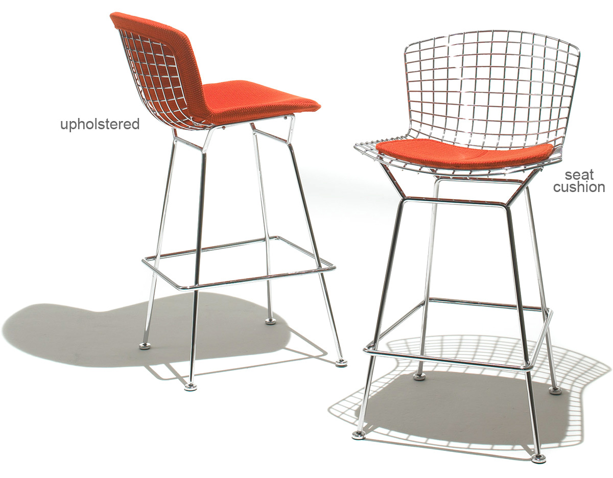 Bertoia Stool With Seat Cushion hivemodern