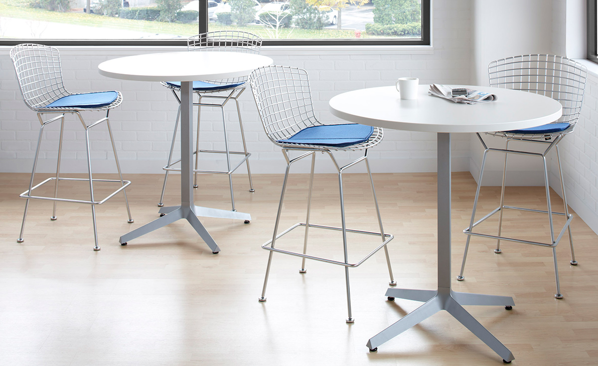bertoia stool with seat cushion  hivemoderncom - overview