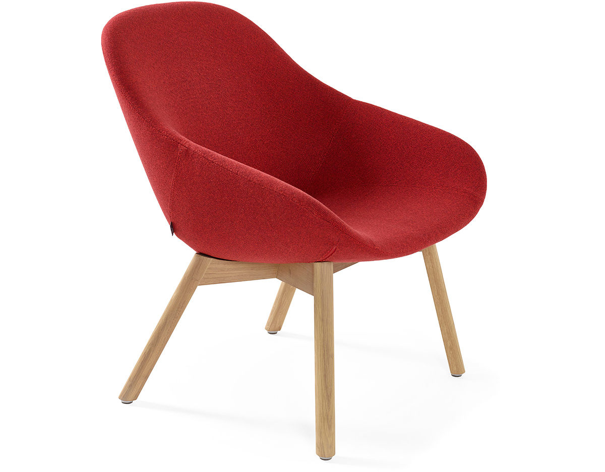 Wood Base Chairs ~ Beso lounge chair with wood base hivemodern