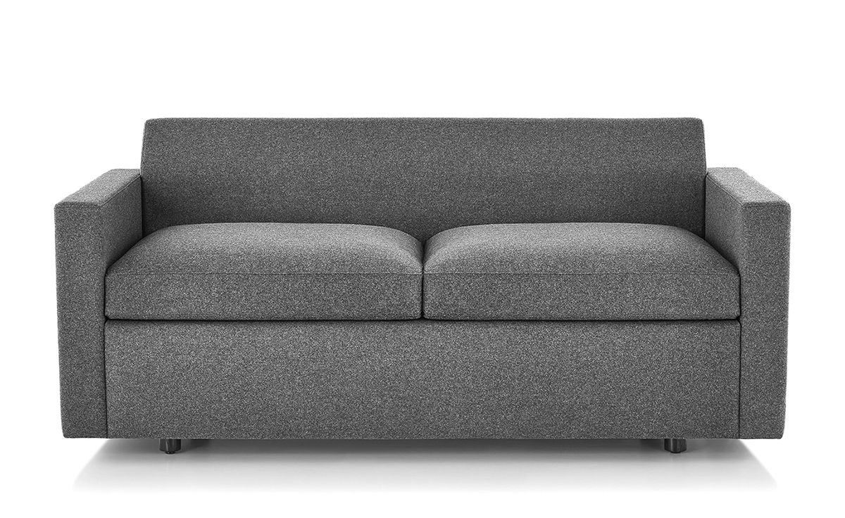 Bevel Settee With Arms Hivemodern Com