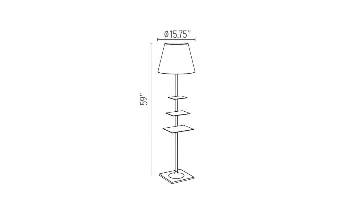 Bibliotheque Nationale Floor Lamp - hivemodern.com
