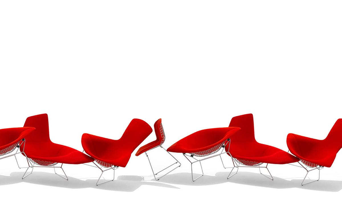Bird Chair With No Ottoman hivemodern – Bertoia Bird Chair Cover