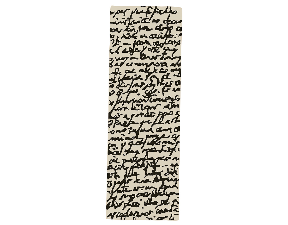 Black and white collection manuscrit rug - Black and white rug ...