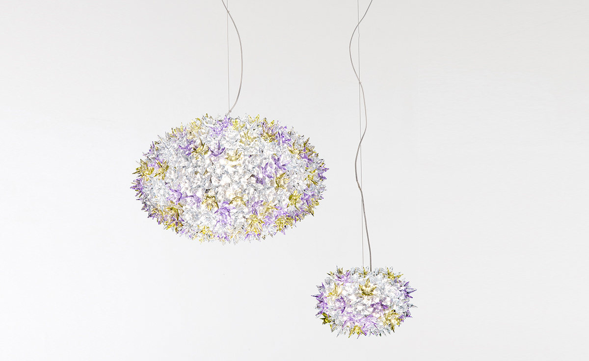 overview bloom lamp gold ferruccio laviani