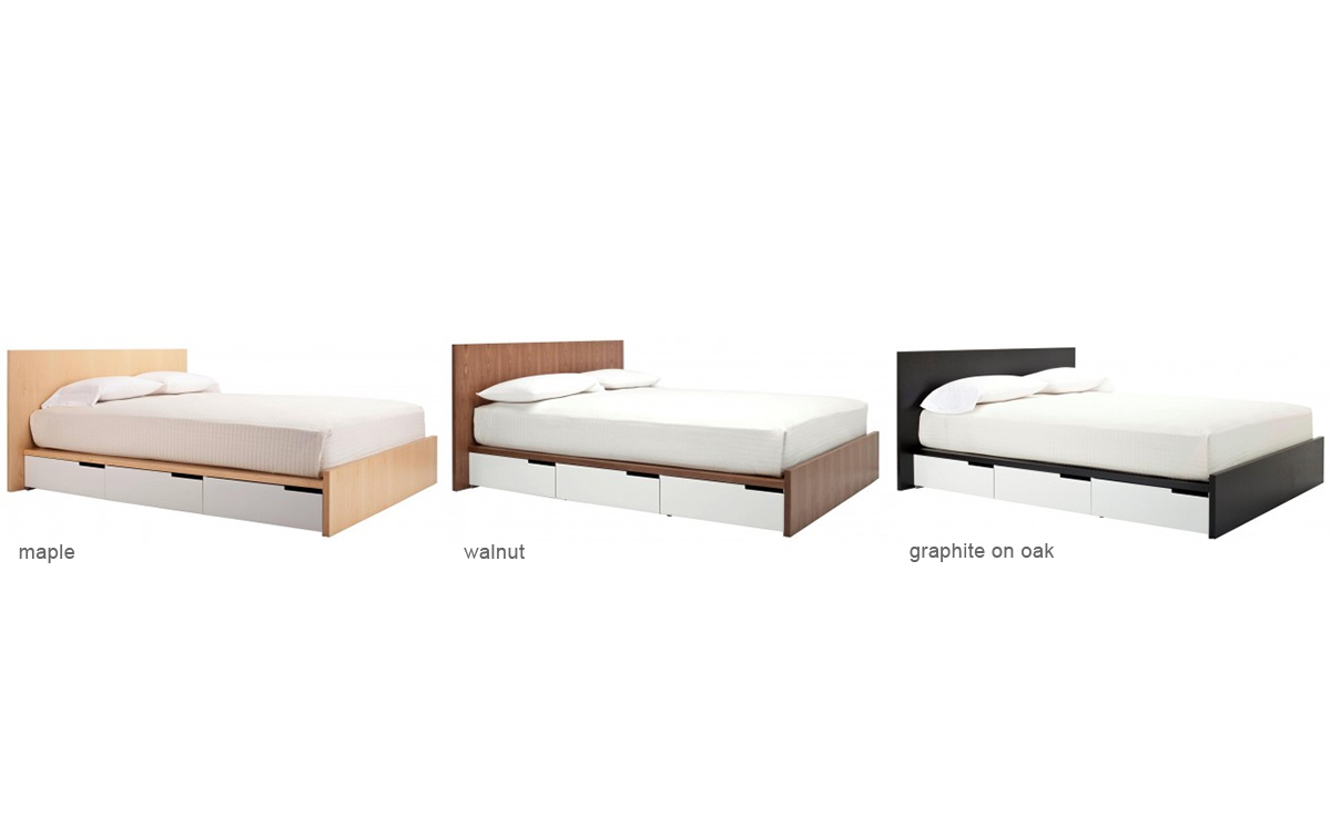 Modern twin bed with storage - Blu Dot Modulicious Queen Bed Hivemoderncom