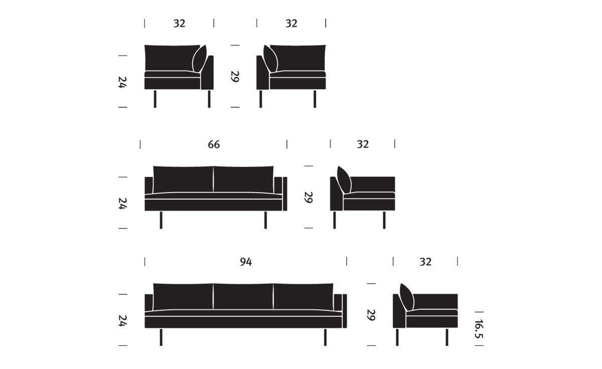 Bolster Sectional Sofa Hivemodern Com