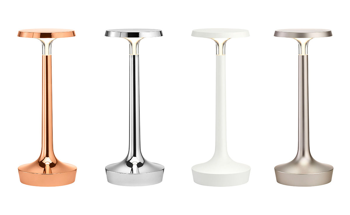Bon jour unplugged table lamp for Philippe starck tables