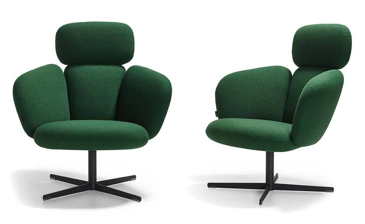 Bras Highback Swivel Base Lounge Chair Hivemodern Com