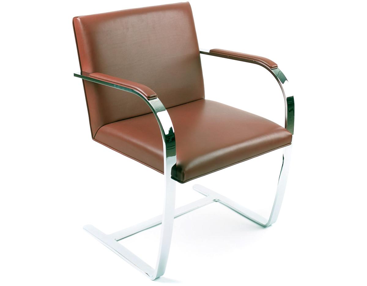 Mies Brno Chair brno chair with flat bar frame - hivemodern