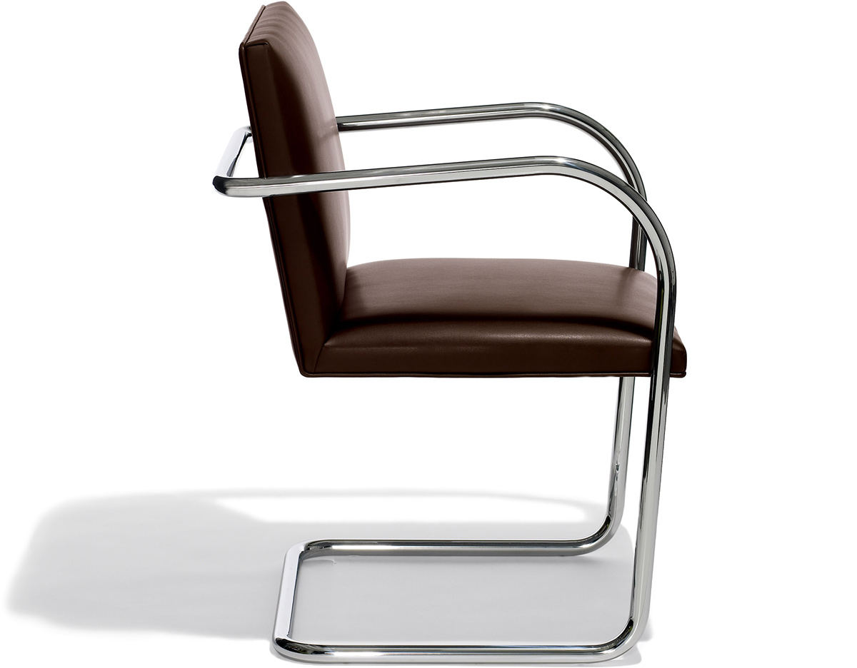 Brno Chair With Tubular Steel Frame - hivemodern.com