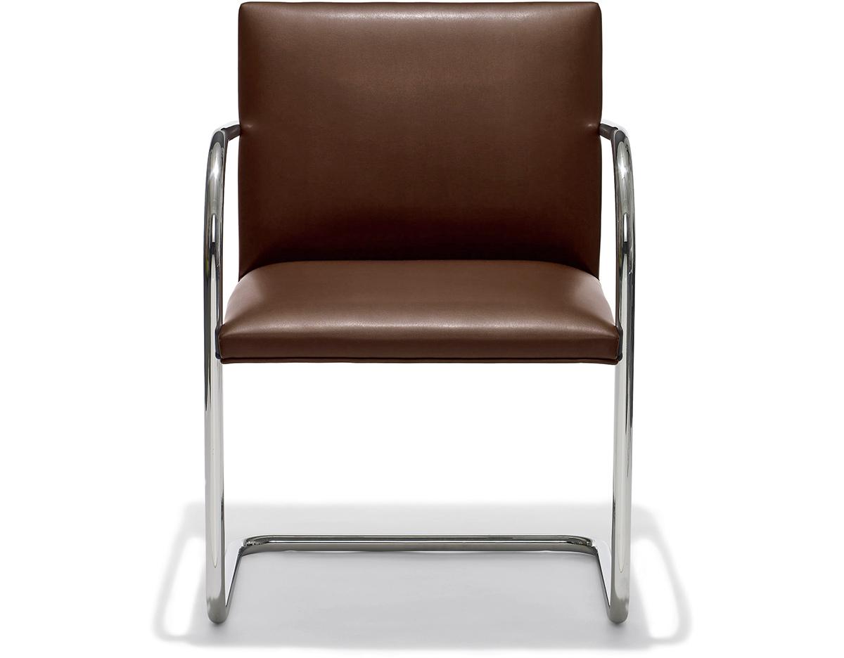 Mies Brno Chair brno chair with tubular steel frame - hivemodern