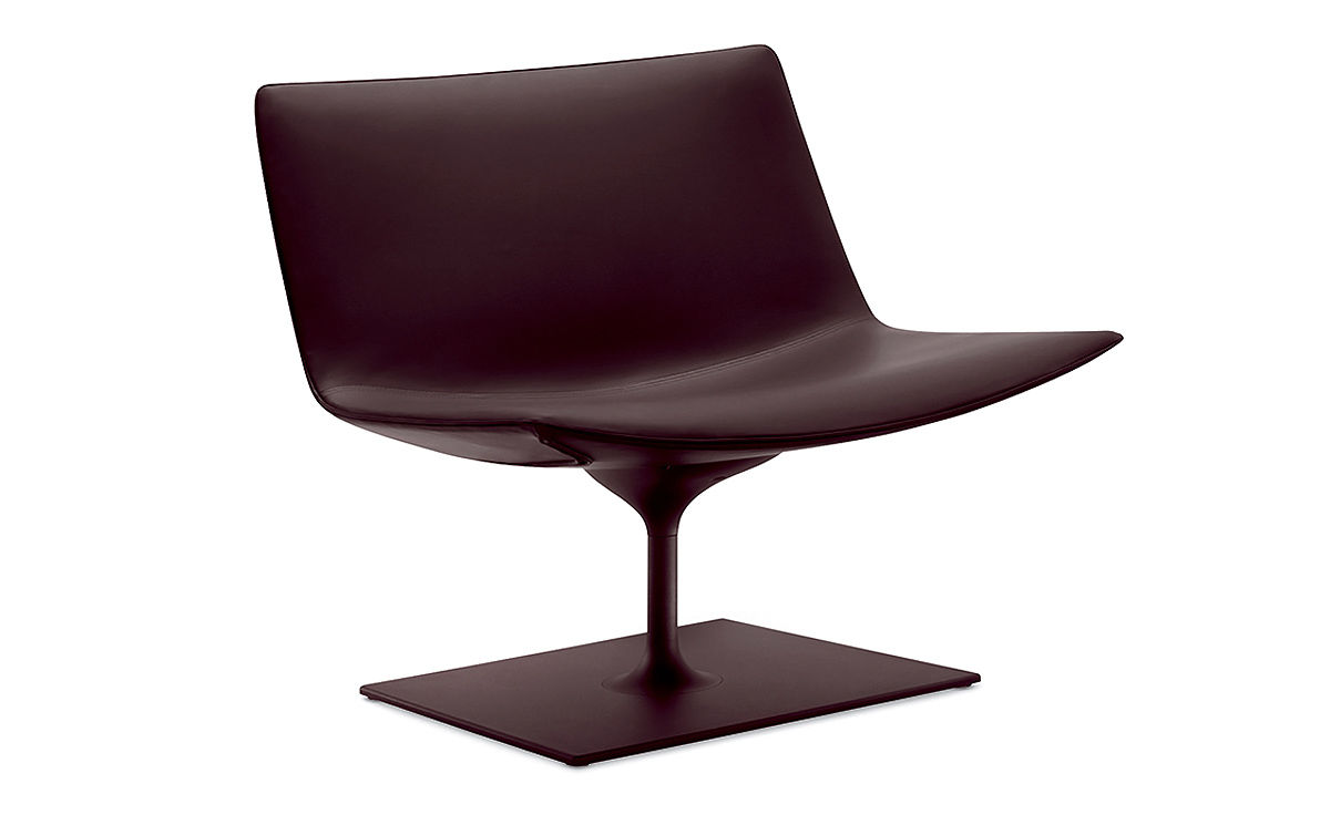 Catifa 80 lounge chair with rectangular base for 80s lounge chair